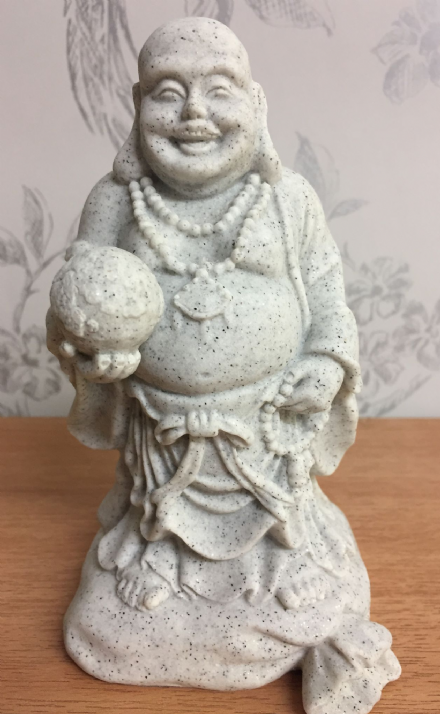 Stone Effect Standing Lucky Buddha Ornament B